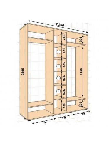 Стандартный ШК-22 (2.2х0.6х2.4)