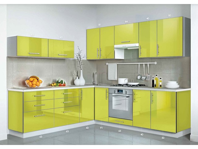 Кухня Mirror Gloss 2.2х2.3