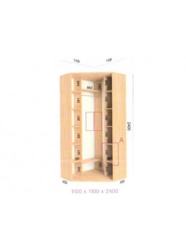 Угловой шкаф-купе (1.1х1.1х2.4)