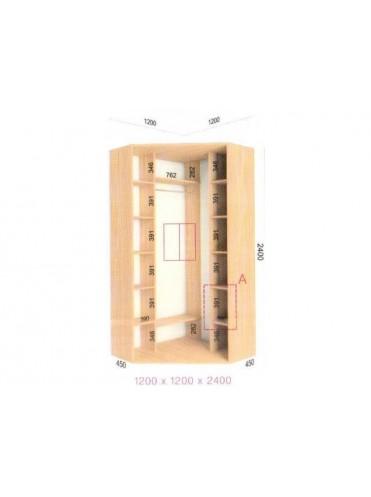 Угловой шкаф-купе (1.2х1.2х2.4)