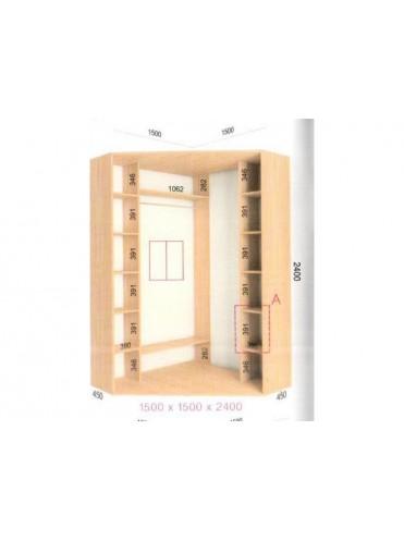 Угловой шкаф-купе (1.5х1.5х2.4)
