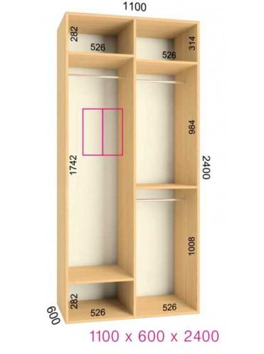 Стандартный шкаф-купе Ультра (1.1х0.60х2.4)