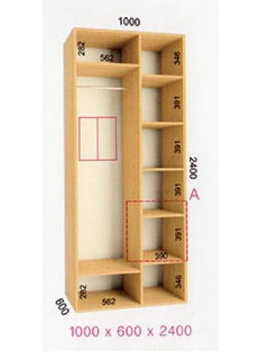Стандартный шкаф-купе Стандарт (1.0х0.60х2.4)