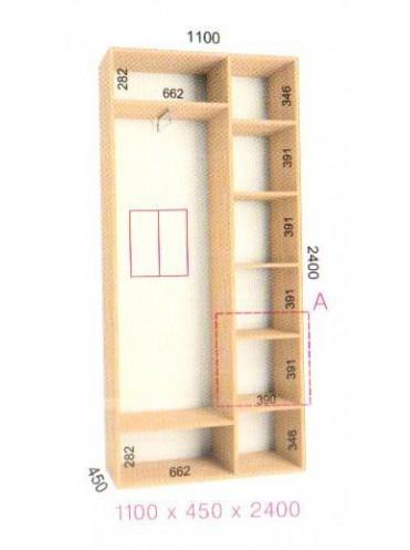 Стандартный шкаф-купе Стандарт (1.1х0.45х2.4)