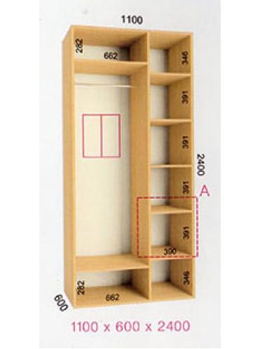 Стандартный шкаф-купе Стандарт (1.1х0.60х2.4)