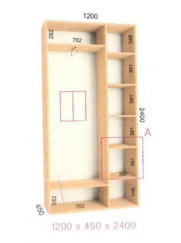 Стандартный шкаф-купе Стандарт (1.2х0.45х2.4)
