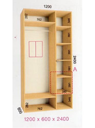 Стандартный шкаф-купе Стандарт (1.2х0.60х2.4)