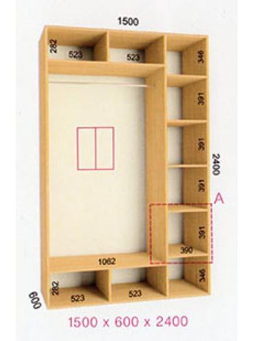 Стандартный шкаф-купе Стандарт (1.5х0.60х2.4)