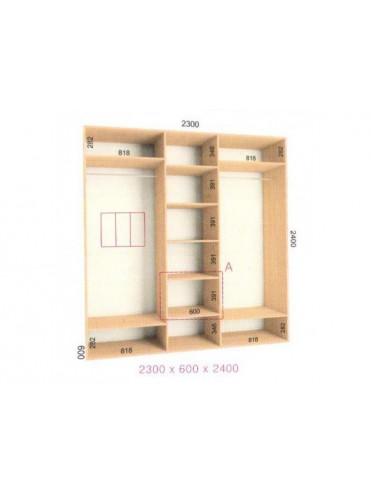 Стандартный шкаф-купе Стандарт (2.3х0.60х2.4)