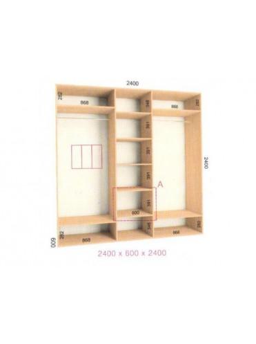 Стандартный шкаф-купе Стандарт (2.4х0.60х2.4)