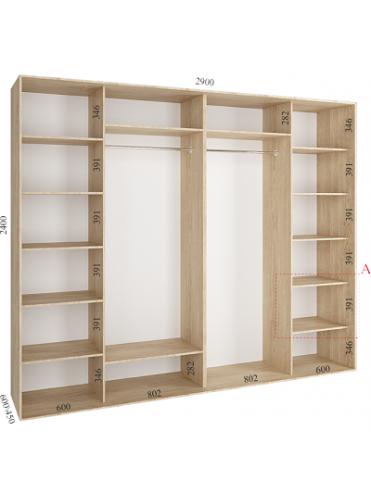Стандартный шкаф-купе Стандарт (2.9х0.60х2.4)