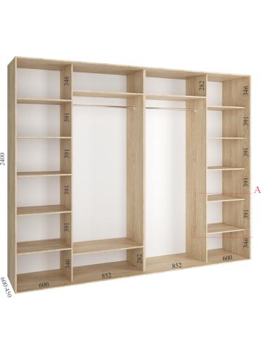 Стандартный шкаф-купе Стандарт (3.0х0.60х2.4)