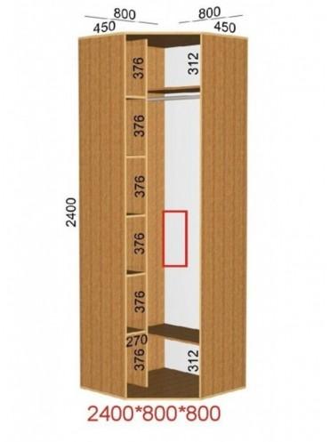 Угловой шкаф-купе (0.8х0.8м)