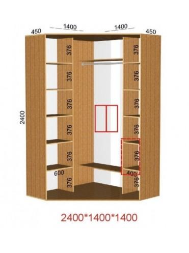 Угловой шкаф-купе (1.4х1.4м)