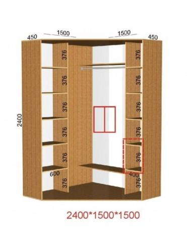 Угловой шкаф-купе (1.5х1.5м)