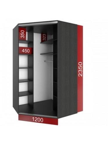 Угловой шкаф-купе (1200х1200)