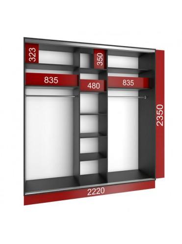 Стандартный шкаф-купе (2200х600х2400)