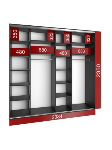 Стандартный шкаф-купе (2400х450х2400)
