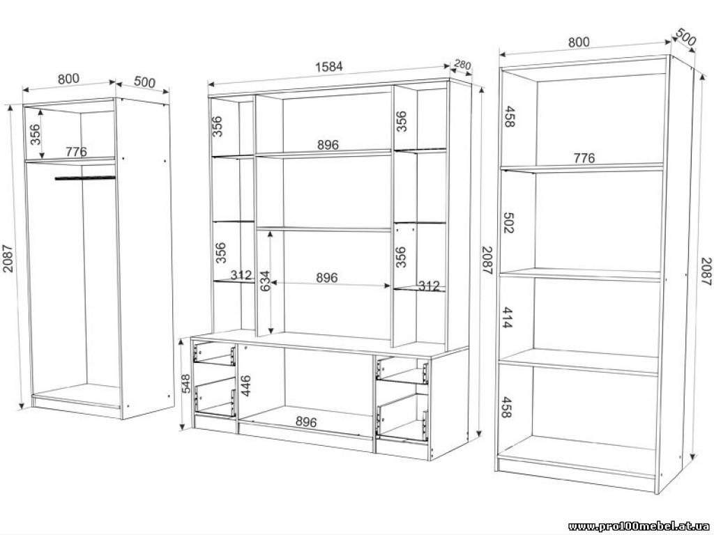 Мебель своими руками из дсп с чертежами 412